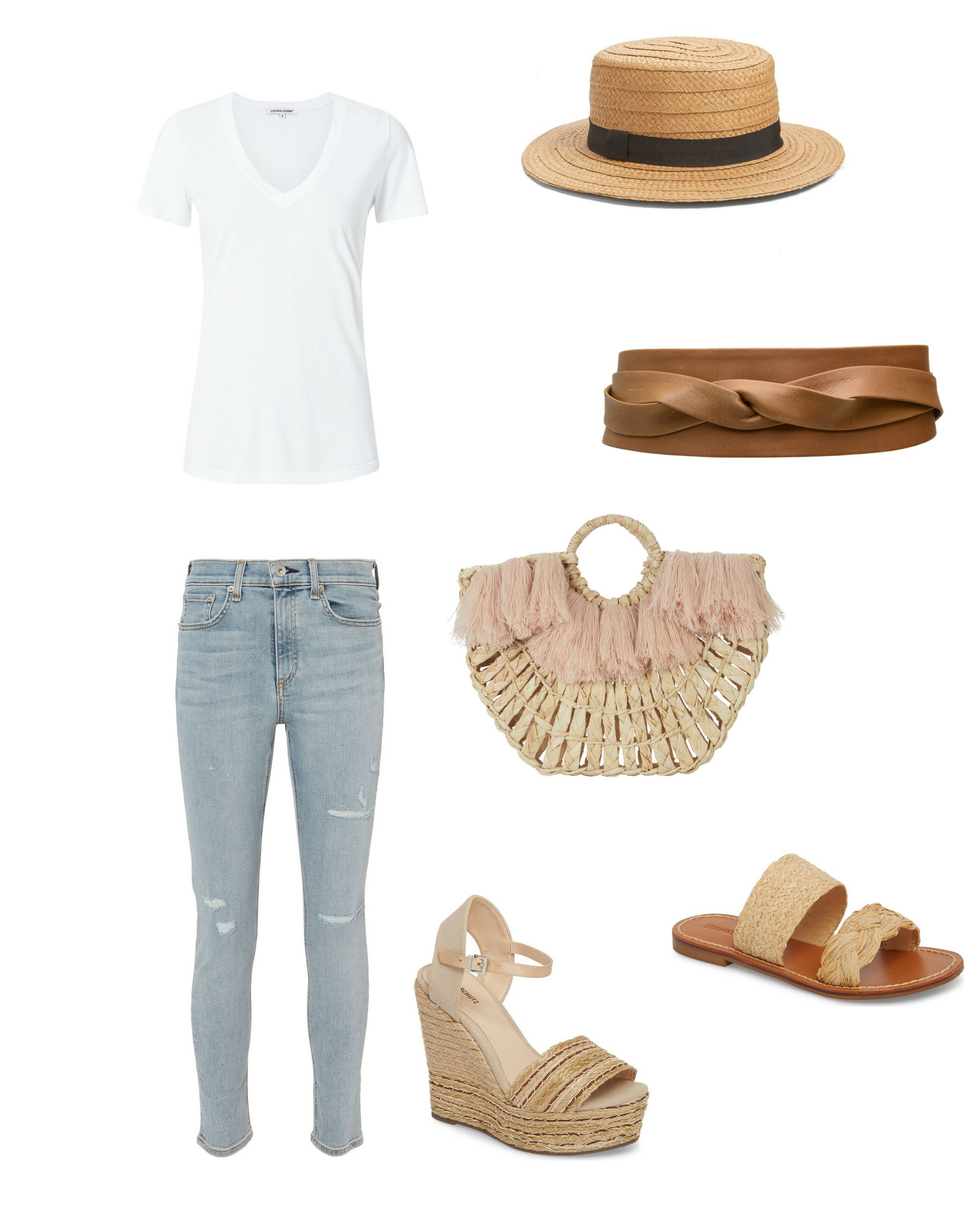 Match Accessories: Update Your White Tee and Light Jeans