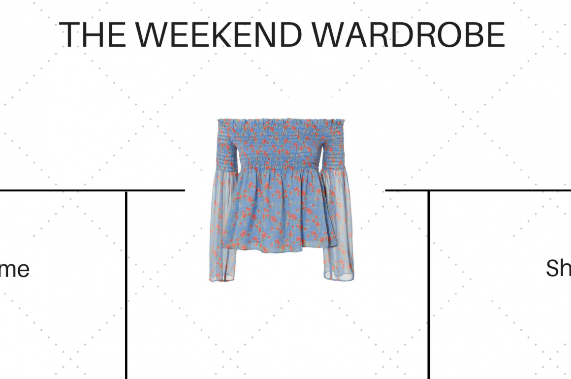 The Weekend Wardrobe – 1 blouse/4 outfits