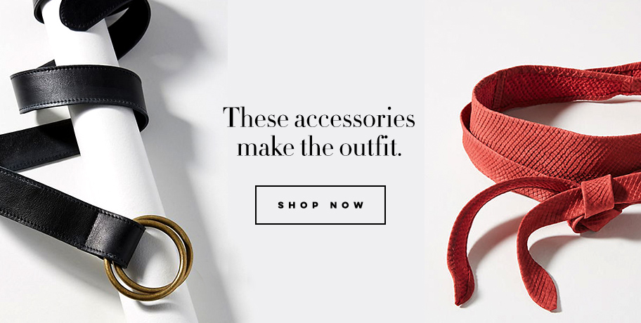 These accessories make the outfit belts