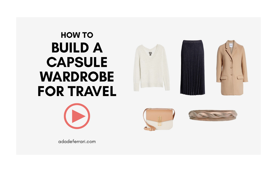 How to Build a Capsule Wardrobe for Travel blog