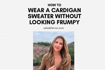 How To Wear A Cardigan Sweater Without Looking Frumpy IGthumb